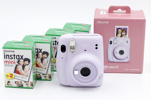 Fujifilm Instax Mini 11 Starter Kit, Lilac Purple
